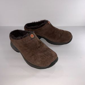 Merrell Suede Primo Chill Fur Lined Slides Mules